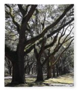 Light Through Live Oaks Fleece Blanket