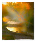 Light Up The Creek Fleece Blanket