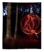 Light Writing In Woods Fleece Blanket