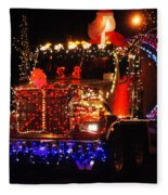 Lighted Cement Truck Fleece Blanket