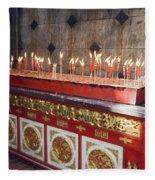 Lighted Incense Sticks Fleece Blanket