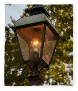 Lighted Street Lamppost Fleece Blanket