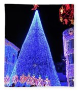 Lighted Xmas Tree Walt Disney World Fleece Blanket