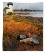 Lighthouse At Dawn Fleece Blanket