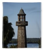 Lighthouse At Lake Chautauqua Fleece Blanket