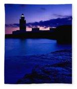 Lighthouse Beacon At Night Fleece Blanket