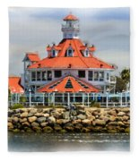 Lighthouse Charm Fleece Blanket