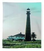 Lighthouse Galveston Fleece Blanket