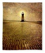 Lighthouse Grunge Fleece Blanket