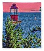 Lighthouse Hdr Fleece Blanket