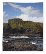 Lighthouse On Coastal Cliff Fleece Blanket
