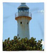 Lighthouse On Grand Turk 2 Fleece Blanket