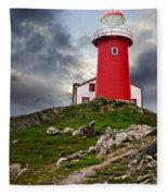 Lighthouse On Hill Fleece Blanket