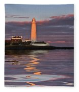 Lighthouse Reflection Fleece Blanket