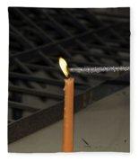 Lighting A Sparkler With An Orange Candle Fleece Blanket