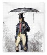 Lightning Rod Umbrella Fleece Blanket