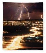 Lightning Storm Fleece Blanket