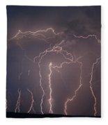 Lightning Strike Fleece Blanket