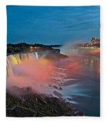 Lights On Niagara Fleece Blanket