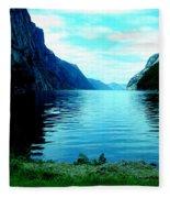 Ligth Fjord Norway Fleece Blanket