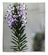 Lil Flower In Lilac Fleece Blanket