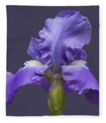 Lilac Iris Fleece Blanket
