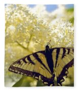 Swallowtail Lilac Spring Photo Fleece Blanket