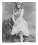 Lillian Russell 1882 Fleece Blanket