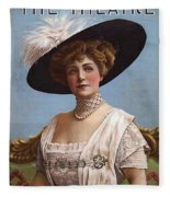 Lillian Russell On Cover Fleece Blanket