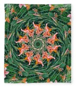 Lilly In Abstract Fleece Blanket