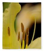 Lily - Flower - Fore And Aft Fleece Blanket