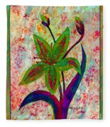 Lily Abstraction Fleece Blanket