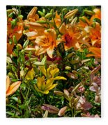 Lily Garden Bouquet  Fleece Blanket