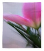 Lily In Motion Fleece Blanket
