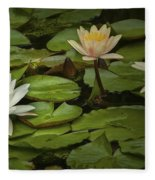 Lily Pads And Blossoms. No204 Fleece Blanket