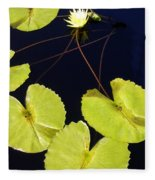 Lily Pads And Lotus Blossom Fleece Blanket