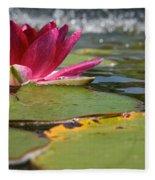 Lily Pads And Petals Fleece Blanket