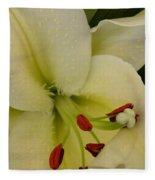 Lily White Fleece Blanket