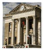Limestone County Courthouse Alabama Fleece Blanket