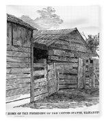 Lincoln Birthplace Fleece Blanket