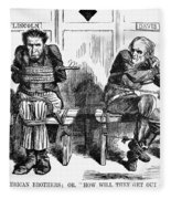 Lincoln Cartoon, 1864 Fleece Blanket