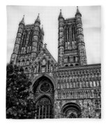 Lincoln Cathedral Facade Fleece Blanket