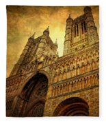 Lincoln Cathedral Fleece Blanket
