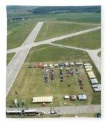 Lincoln Il Airport Fleece Blanket