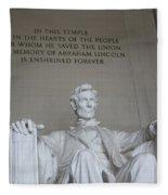 Lincoln Memorial - Enshrined Forever Fleece Blanket