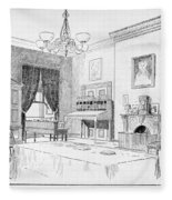 Lincoln: White House Office Fleece Blanket