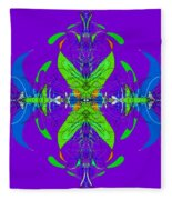 Linear Movement In Purple Fleece Blanket