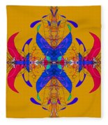 Linear Movement Number 3 Fleece Blanket