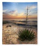 Linger By The Sea Fleece Blanket