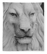 Lion In Stone Fleece Blanket